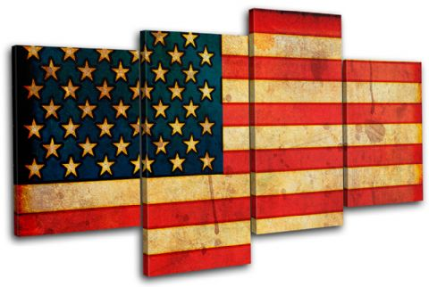 Abstract American Maps Flags - 13-1147(00B)-MP04-LO